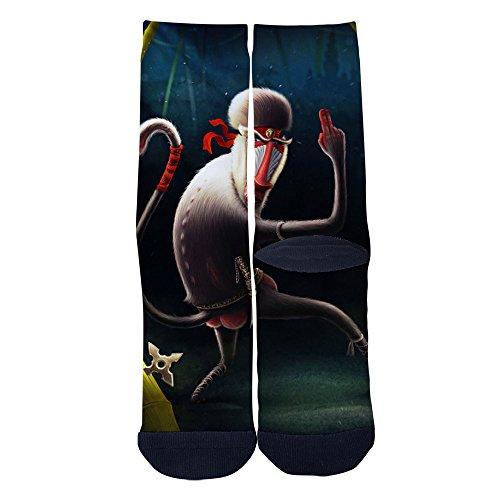 Mens Womens Funny Monkey Ninja Socks Custom Personality