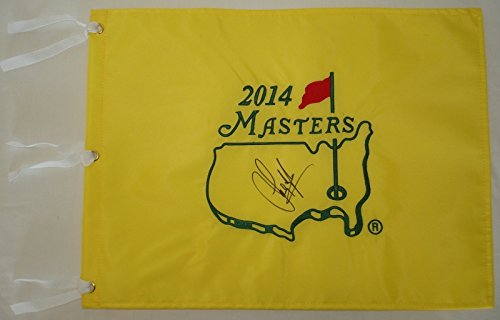 Sandy Lyle Hand Signed / Autographed 2014 The Masters Flag - Augusta National (Autographed Bowl)