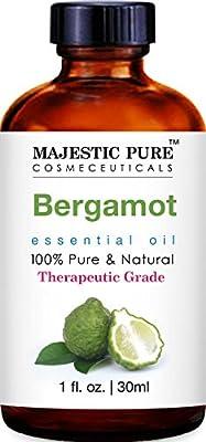 Majestic Pure Bergamot Essential Oil - 100% Pure and Natural, Therapeutic Grade Bergamot Oil, 1 fl. oz from MAJESTIC PURE