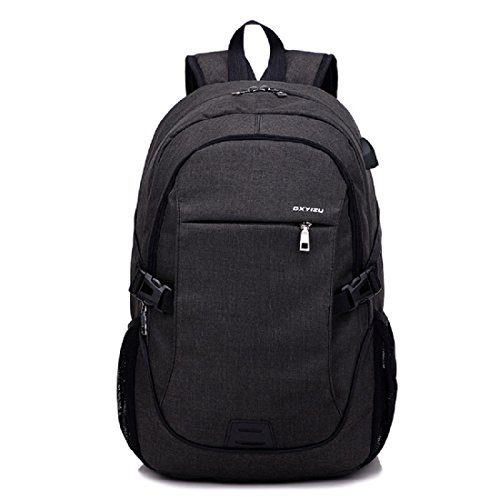 Laptop Backpack for Men and Women, Duckmole Notebook Backpacks with USB Charging Port, USB Cable and Combination...