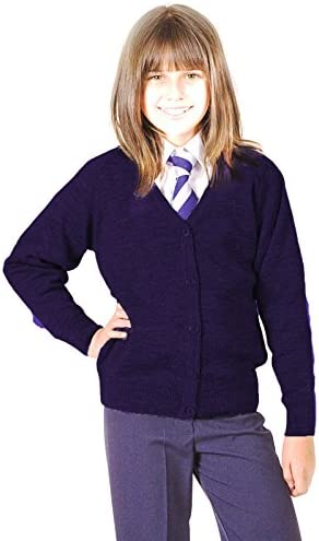 CKL Girls School Cardigan Premium Wool Mix Knitted Cardigan School Uniform School Wear