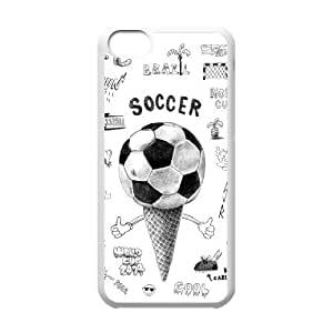 wugdiy Custom Case for iPhone 5C with Personalized Design Soccer Ball