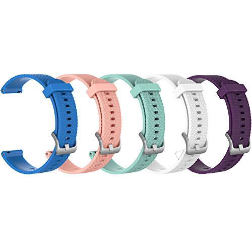 ZSZCXD Band for Garmin Vivoactive 3/Vivomove HR, Silicone Replacement WatchBand Strap Band Wristband for Garmin Vivoactive 3 and Garmin Vivomove HR (5Pcs,002, Small)