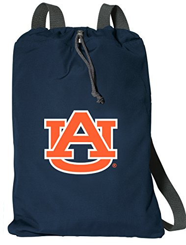 Broad Bay Auburn Drawstring Backpack Rich Cotton Auburn University Cinch Bag (Auburn String Pack)