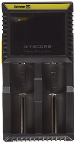 NITECORE D2 (New 2015 version) Intellicharge universal smart battery Charger with ELECCESSORY(TM) CAR CHARGER For Li-ion / IMR / Ni-MH/ Ni-Cd 26650 22650 18650 18490 18350 17670 17500 17335 16340 RCR123 14500 10440 AA AAA AAAA C types