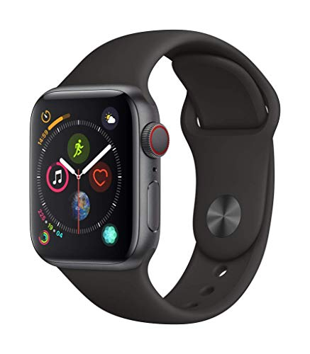 Apple Watch Series 4 (GPS + Cellular, 40mm) – Space Gray Aluminium Case with Black Sport Band