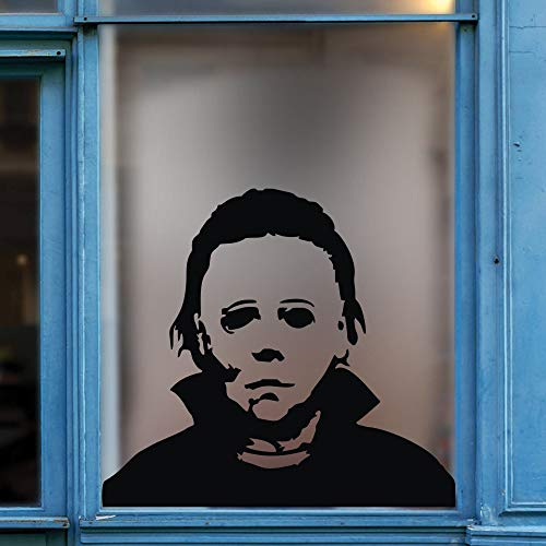FlyWallD Halloween Holiday Decals Michael Myers Horror Living Room Sticker Funny Door Window Mirror Vinyl Art Décor -