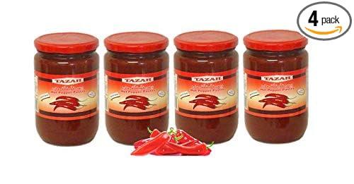 Amazon Com Hot Red Pepper Paste 4 Jars 650g 23oz Each معجون دبس الفليفلة الحمراء صلصة حارة Grocery Gourmet Food