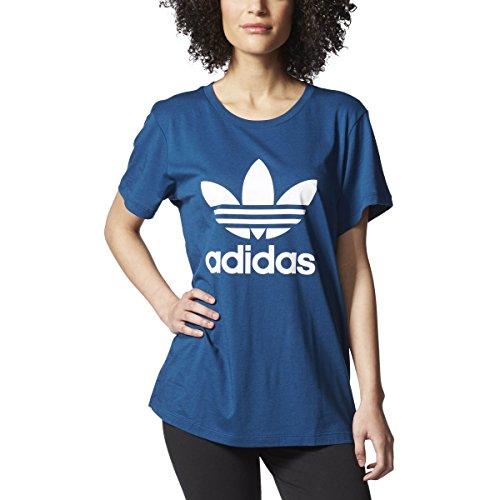 adidas Originals Women's Boyfriend Trefoil Tee, Tech Steel/White, XL