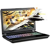 SAGER NP8157 15.6 FHD IPS G-Sync VR Ready Gaming Laptop, Intel i7-7820HK, NVIDIA GeForce GTX 1070 8GB GDDR5, 16GB RAM, 250GB M.2 SSD + 1TB HDD, Windows 10 Home