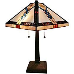 Amora Lighting AM244TL14 Tiffany-Style Mission Table Lamp