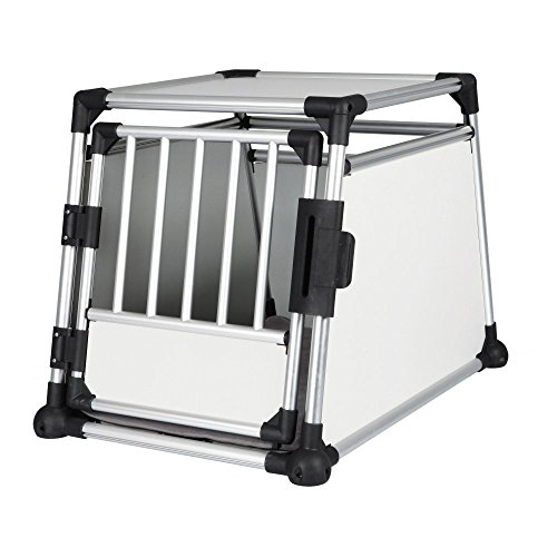 TRIXIE Pet Products Scratch-Resistant Metallic Crate, Large