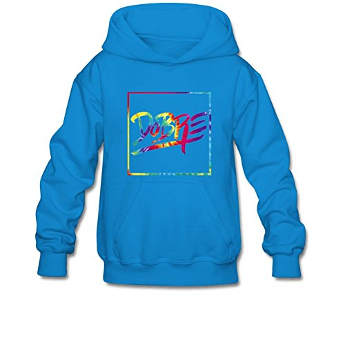 Aliensee Youth Colorful Dobre Brothers Hoodie Sweatshirt Suitable for 10-15yr Old L Blue