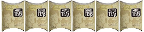 Bag Ladies Tea presents Novel Tea - Each pouch contains 5 teabags individually tagged with literary quotes, made with fine English breakfast tea.