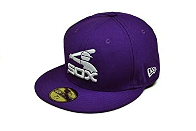 New Era Hat Mlb Chicago White Sox Coop Purple Fitted Cap