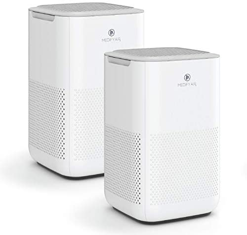 Medify MA-15 Air Purifier with H13 HEPA filter – a higher grade of HEPA | '3-in-1' Filters | 99.9% removal in a Modern Design – White 2-Pack