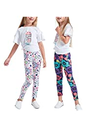 Luouse Girls Stretch Leggings Tights Kids Pants Plain Full Length Children Trousers …