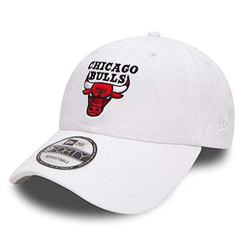 986cadeb54efe CASQUETTE NEW ERA WASHED NBA 9FORTY CHICAGO BULLS / BLANC: Amazon.fr ...