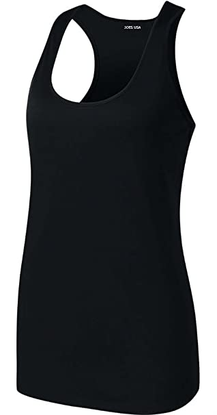 54510be18fd64e Amazon.com  Ladies Athletic Moisture Wicking Racerback Tank Tops ...