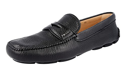 Prada Menns 2dd001 T6o F0002 Skinn Loafers