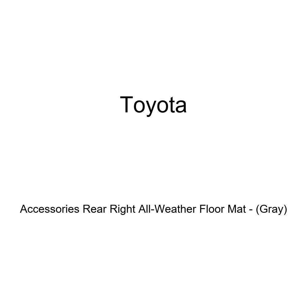 TOYOTA Genuine Accessories Rear Right All-Weather Floor Mat PT206-5201B-03 Gray