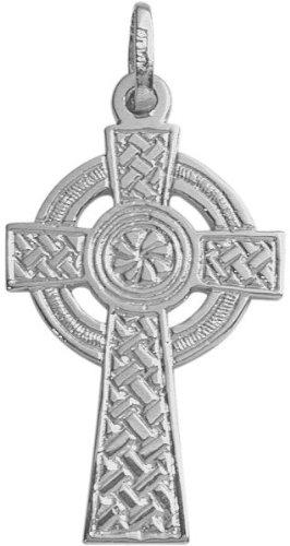 White Gold Large Celtic Cross - 9