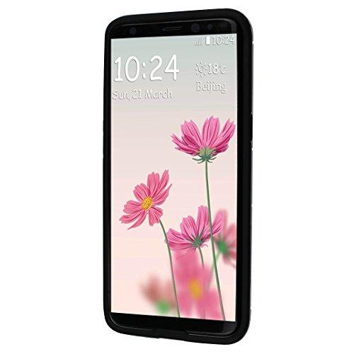 """Rosa Schleife Ultra Delgada Samsung Galaxy S8 Plus Funda de Protección Híbrido Armadura Escabroso Caso Doble Capa Carcasa Trasera Función de Soporte Funda de Móvil Para Samsung Galaxy S8 Plus (6.2""""),  Oro"""