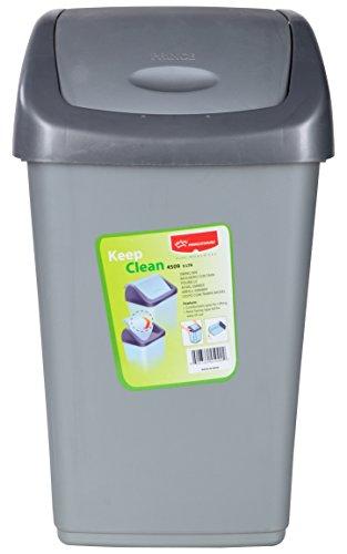 Princeware Plastic Dustbin (9 Liters, Grey)