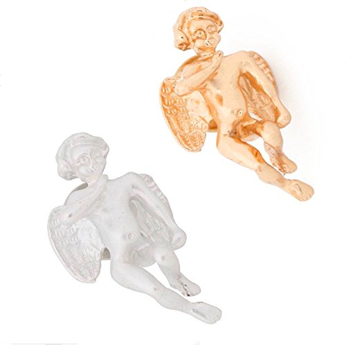 MISASHA Fashion Celebrity Designer Inspired Gift Angel Set (Angel Set) - Designer Gold Tone Brooch