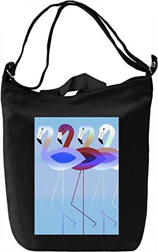 Cute Flamingos Borsa Giornaliera Canvas Canvas Day Bag| 100% Premium Cotton Canvas| DTG Printing|