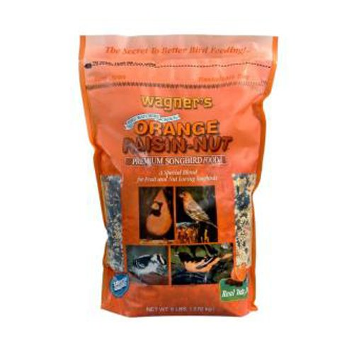 Wagner's 62055 Orange Raisin-Nut Premium Songbird Food, 6-Pound Bag