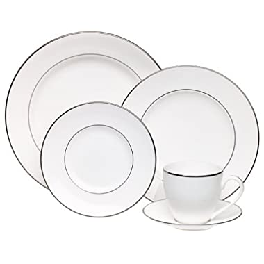 Lenox Continental Dining Platinum-Banded 5-Piece Place Setting, Service for 1