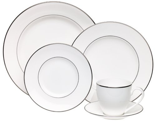 - Lenox Continental Dining Platinum-Banded 5-Piece Place Setting, Service for 1