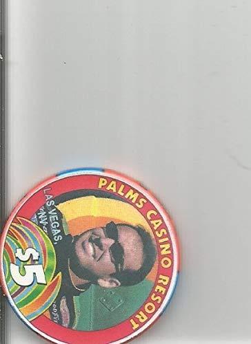 ($5 palms red obsolete casino chip tony pedregon 2003 funny car champion las vegas nevada)