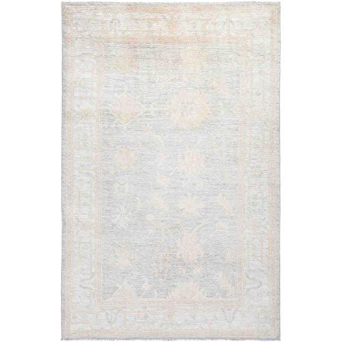 Solo Rugs Oushak Indoor Hand Knotted Area Rug, Linen, 7' 9