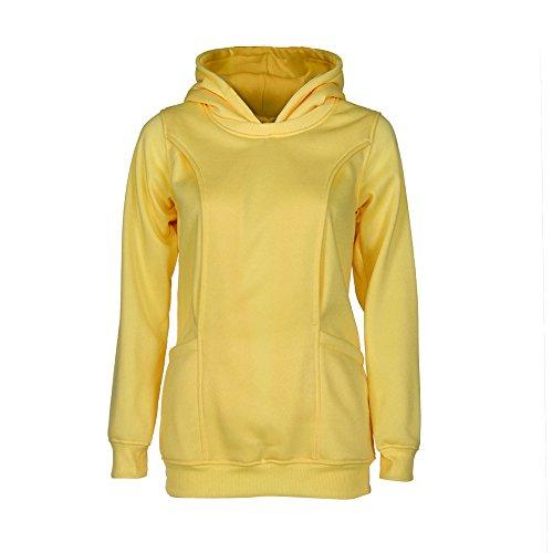 Ularma Ropa de maternidad, bebé lactancia embarazo Top con capucha suéter amarillo