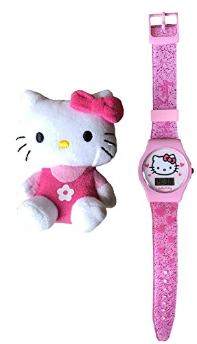 - Hello Kitty Pink Digital Watch with Silicone Strap and Hello Kitty Toy