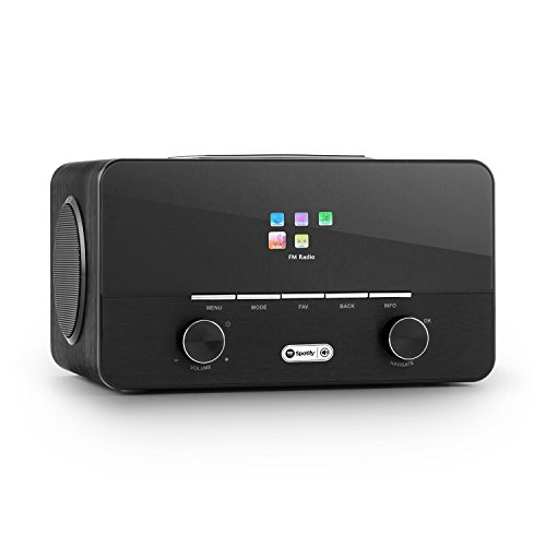 auna connect 150 BK • 2.1 Internet Radio • Wi-Fi Music Player • Alarm Clock • Spotify Connect • FM w/ RDS • MP3 USB port • AUX • Remote Control • Black