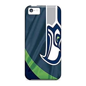 AlissaDubois Iphone 5c Shockproof Cell-phone Hard Cover Allow Personal Design Stylish Seattle Seahawks Image [eQR19955BTMN]