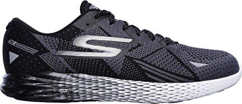 Skechers mens Go Meb Razor traspirante imbottito Track scarpe da corsa Black/White