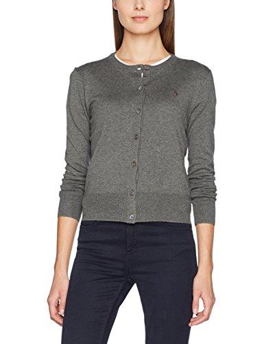 Xwdog Ralph Polo Heather Grigio Lauren Cardigan antique sweater Sleeve Donna long vTRqTdwO