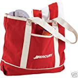MERCURY Marine Boat Tote Bag Red Oversized 100% Cotton