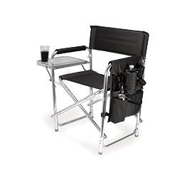 Picnic Time Portable Folding \'Sports Chair\', Black