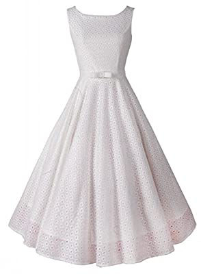 Anni Coco® Women's Lace Crochet Vintage Wedding Party Dresses Multi Colored