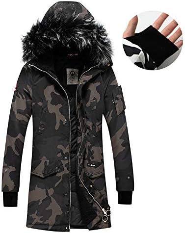 BOROAO Chaqueta de Camuflaje con Capucha de Invierno para Hombre 2019 Chaqueta Larga de algodón para jóvenes Abrigo de algodón Gabardina,A,XL: Amazon.es: Deportes y aire libre