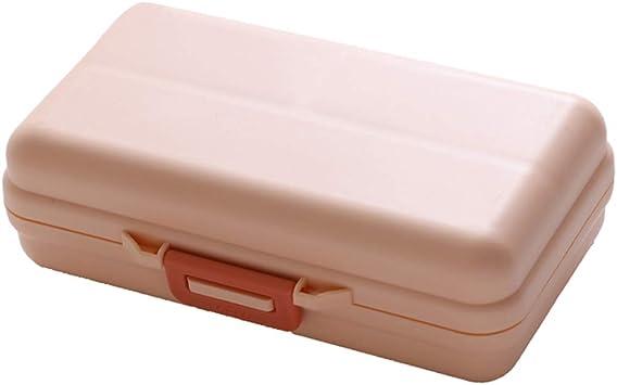Pastillero Caja de pastillas pildoras diario portátil Compartimientos ...