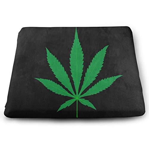 (Ladninag Seat Cushion Green Marijuana Leaf Black Artwork Chair Cushion Hot Offices Butt Chair Pads for Cars)
