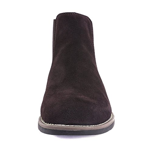07e8d71e5ca21 Bruno Marc Men's Urban-06 Dark Brown Suede Leather Chukka Ankle Boots -  10.5 M
