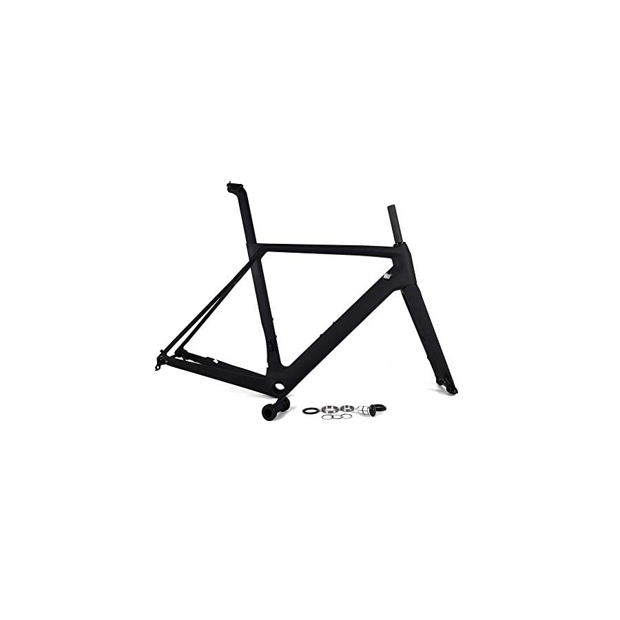 SPCYCLE 2019 New Disc Brake Carbon Road Bike Frames 700x25C Full Carbon Racing Bicycle Frameset with 142x12mm & 100x12mm Thru Axle