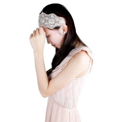 Ezsports 1pc Lady women girls Elegent Lace Elastic Hair head band hoop accessory tie hairbands headbands turban (Flower)